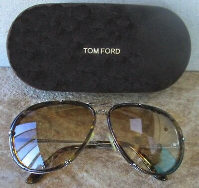 22de2b0777b22 Tom Ford Cyrille Havana Gold brown Gradient Sunglasses Tf109 14P 63 10 135  Nwot