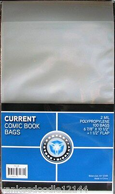2000 New CSP CURRENT/MODERN Comic Book Archival Poly Bags- 6 7/8 X 10 1/2