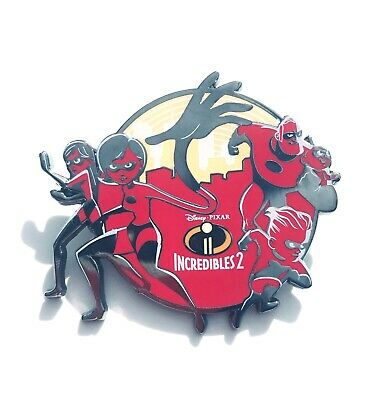 Disney Parks Pixar The Incredibles 2 Family Pin