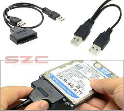 "HDD SATA 7+15 Pin 22Pin to USB 2.0 Adapter Cable for 2.5"" Laptop Hard Drive Disk"