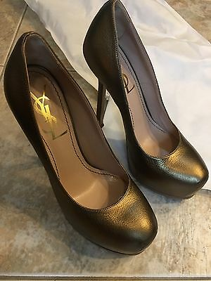 daa65fa3140 YSL YVES SAINT LAURENT TRIBTOO Platform Heels Pumps 5 35 metallic bronze  gold