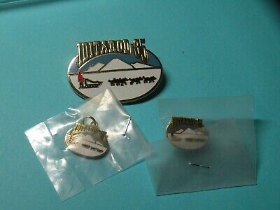 Vintage 1985 Iditarod Dog Sled Race Alaska Souvenir Pin, Charm and Tie Tac
