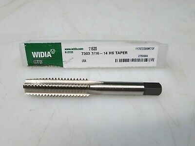 WIDIA GTD 14157 Hand Tap,Taper,3//8-16,Uncoated,4 Flt