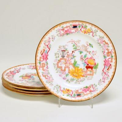 """SET OF (5) MINTON """"CHINESE TREE SMOOTH"""" SALAD/DESSERT PLATES 2067/4 EARLY 1900s"""