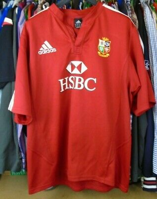 f80a384955a BRITISH IRISH LIONS SOUTH AFRICA 2009 adidas RUGBY SHIRT JERSEY TOP XL ADULT