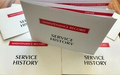 Service History Book Maintenance Record Generic - New for Motor Traders.