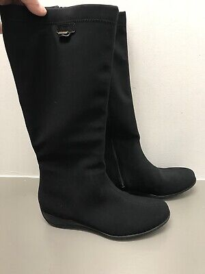 639e399be23 NEW IN BOX Ladies Mephisto Louane Gt Black Suede & Leather Boot Size ...