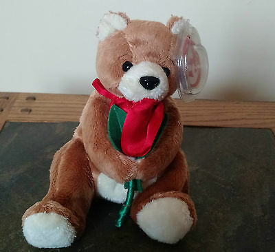 Ty beanie baby Always bear Mothers Day red rose loving sweetheart