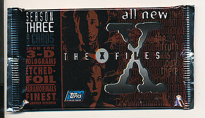 Topps X-FILES Season three (3)-  2 packs trading cards New Sealed H8
