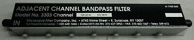 Microwave Filter Company 3303 Adjacent Channel Bandpass Filter