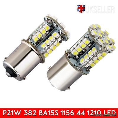2x 1156 LED bulbs 44 SMD 21W 382 BA15S Canbus tail light Side lights Indicator
