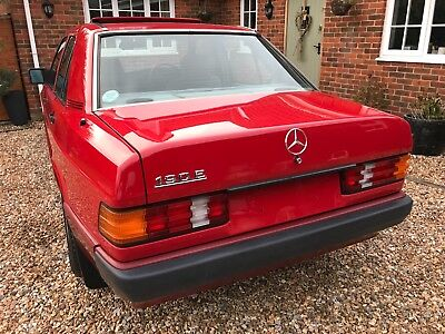 1990 Mercedes Benz 190e 2.0 Auto Signal Red Sold with New MOT until April 2020
