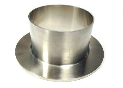 """4"""" O.D. STUB END, Type 14VB, 316L Stainless Steel, Sanitary, Polished I.D."""