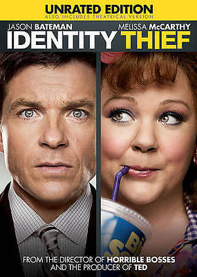 IDENTITY THIEF (DVD, 2014, Unrated) BRAND NEW SEALED! Melissa McCarthy UNRATED