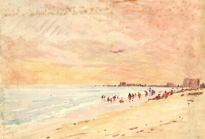 George William Collins (1863-1949) - A Pair of Watercolours, Beach Scenes