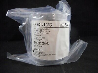 CORNING Plastic Ultra-Low Attachment Culture Dishes 100mm x 20mm 3262 5/PACK