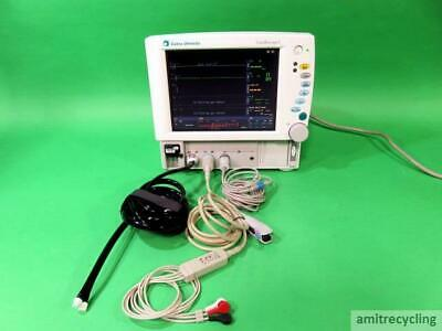 GE Datex-Ohmeda Cardiocap 5 Anesthesia Monitor w/Cables Leads Great shape