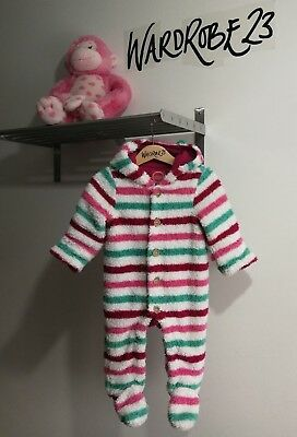 Great Condition Baby Girl 6-9 Months Joules Winter All In One Snowsuit