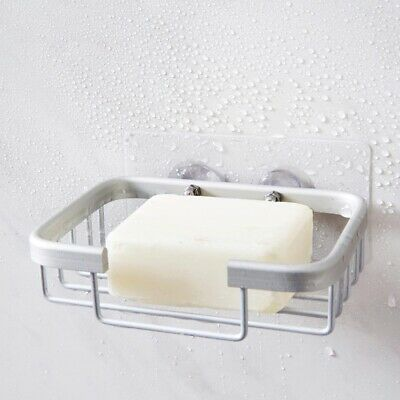 Self Adhesive Aluminum Soap Plate Drainer Shelf Storage Rack Holder Wall Mounted