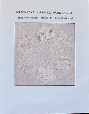 Elizabeth Almond Bolton Royal Pulled Work Sampler Counted Thread Chart/Pattern
