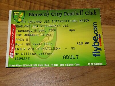 Ticket - England Women v Norway Women at Norwich March 7th 2000