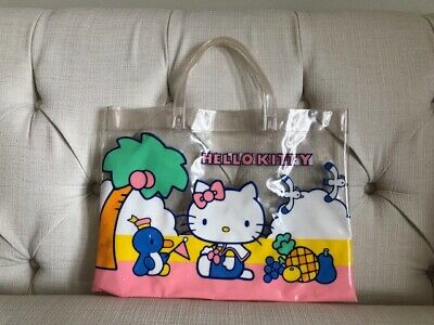 Vintage Sanrio Hello Kitty Plastic Tote Bag Kawaii