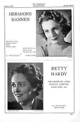 1939 Hermione Hannen Betty Hardy Enid Hewit Doris Hilditch