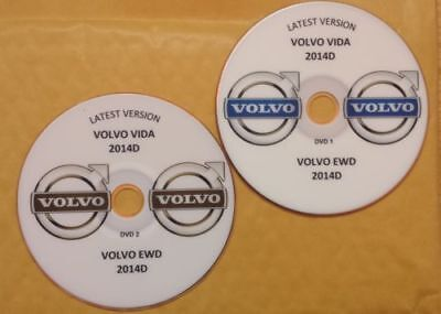 Volvo Vida 2014D & EWD 2014D Repair Service Parts Wiring Workshop, 2 x DVDS