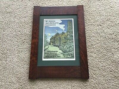 Arts And Crafts Stickley Mission Style Dard Hunter Frame w/ GPI Poster 2003