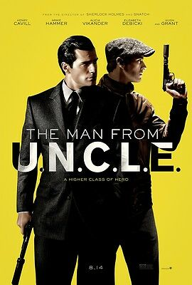 """The Man From U.N.C.L.E. movie poster (a) Henry Cavill, Armie Hammer 11"""" x 17"""""""