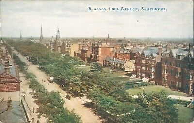 Southport; Lord street; Photochrom celesque