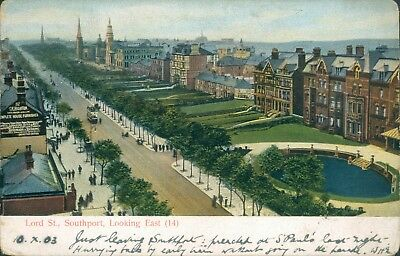 Southport; Lord street; looking east 1905
