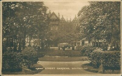 Southport; Lord street gardens Valentine 1922