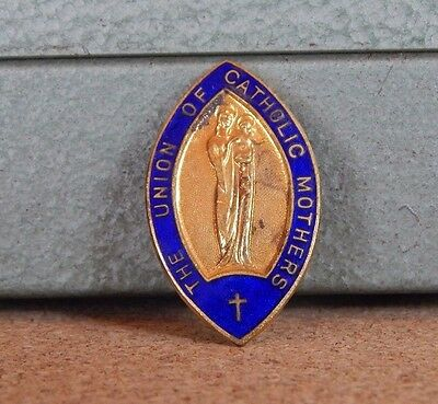 Vintage Enamel Badge The Union Of Catholic Mothers By Fattorini & Sons
