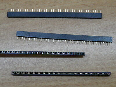 4x 2mm pitch 40 Pin SIL Socket 40 Way SIP strip female