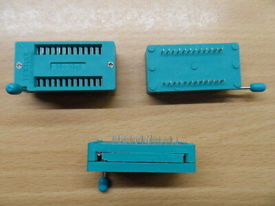 """24pin ZIF socket  for DIL ICs Textool 0.6"""" Zero Insertion Force wide DIP"""