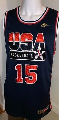 b2314812a37cc VTG Nike Team USA Basketball MAGIC JOHNSON Dream Team BOYS XL Youth Gold NBA