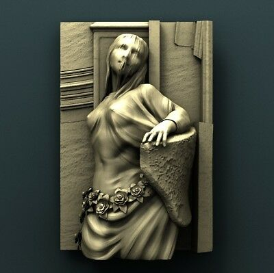 3d STL Model Relief for CNC Router Aspire _ (0287) Woman