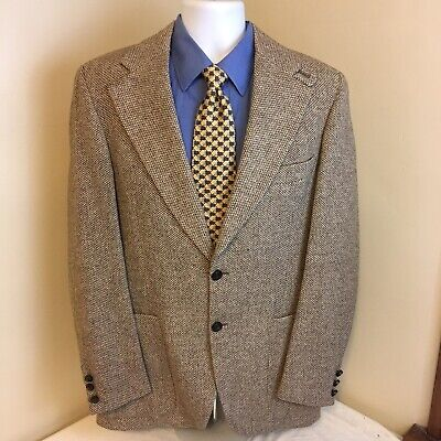 Austin Reed Mens Brown Cream Two Button Blazer Sport Coat Wool Blend 38l 38 L 21 37 Picclick