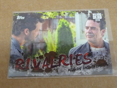 2017 Topps THE WALKING DEAD RIVALRIES MEGAN AND SPENCER MUD PARALLEL /50 E57