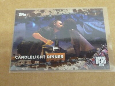 2017 Topps THE WALKING DEAD CANDLELIGHT DINNER MUD PARALLEL /50 E55
