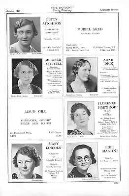 1939 Betty Aitchison Mildred Cottell Adah Dick Florence Harwood