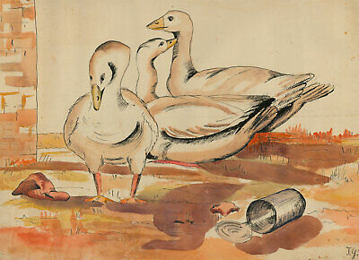 John G. Innes - Large Mid 20th Century Watercolour, Ducks