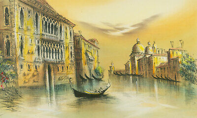 Signed Contemporary Pen and Ink Drawing - The Grand Canal, Venice