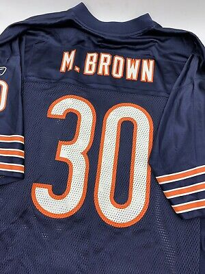 eb34456bcb6 Chicago Bears Mike Brown Men's Size XL Reebok Blue NFL Football Jersey Home  VTG