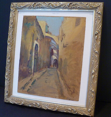 "1898 ""old City Jerusalem"" Original Gouache ""via Dolorosa"" - F.c. Smith -Listed"