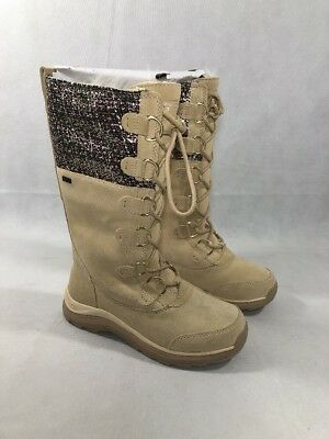 80da8d5be3 UGG Atlason Frill Cream Waterproof Leather Toscana Tall Snow Boots Size 5  Womens