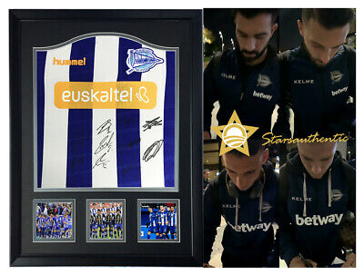 0a37cccc9 Deportivo Alaves squad hand signed autograph jersey starsauthentic coa proof