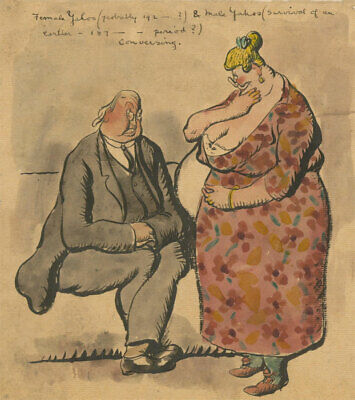 Harold Hope Read (1881-1959) - Watercolour, Characters from Gulliver's Travels