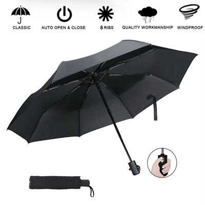 6eb7de5297fb MINI TRAVEL AUTOMATIC Umbrella 3 Folding Compact Rain Windproof Auto ...